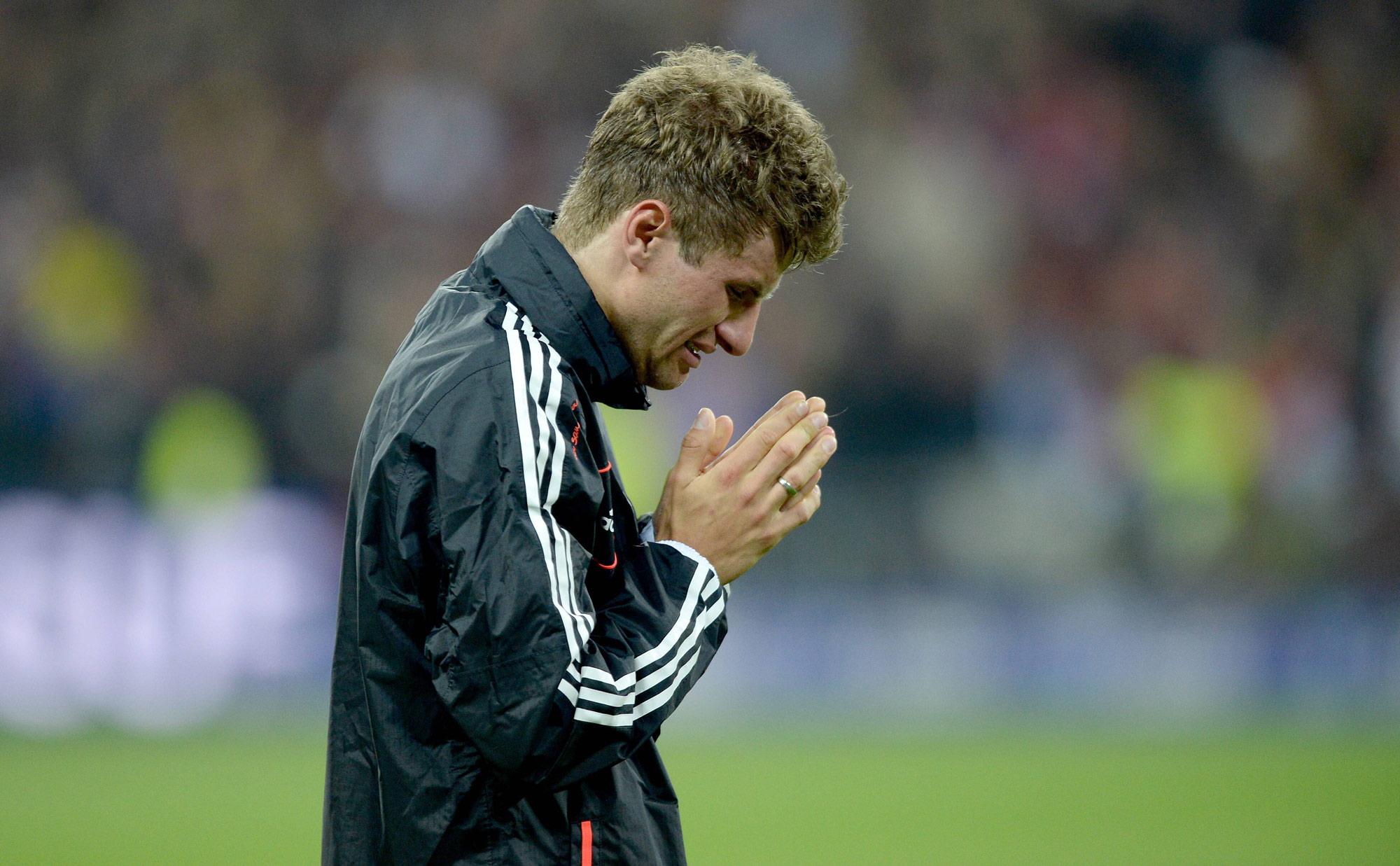 2013 gewinnt Müller alle Titel mit den Bayern.